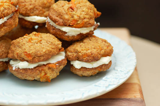 Carrot Cake Sandwich Cookies with Cream Cheese Filling – A ...