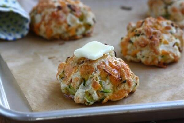 zucchini cheddar drop biscuits a cozy kitchen