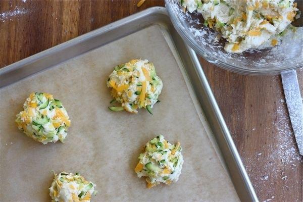 Zucchini Cheddar Drop Biscuits A Cozy Kitchen