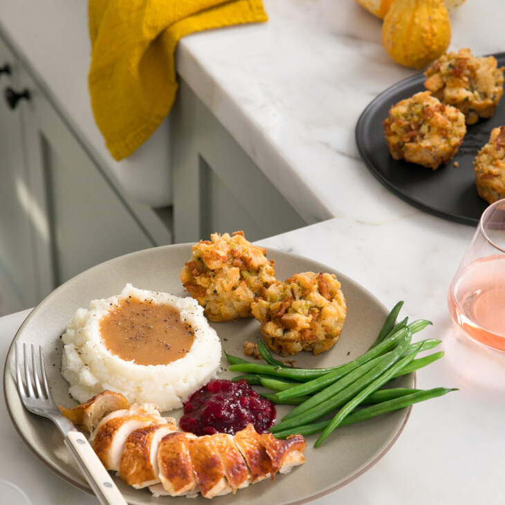 Stuffing Muffins on plate
