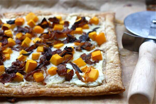 recipe: butternut squash goats cheese puff pastry [4]