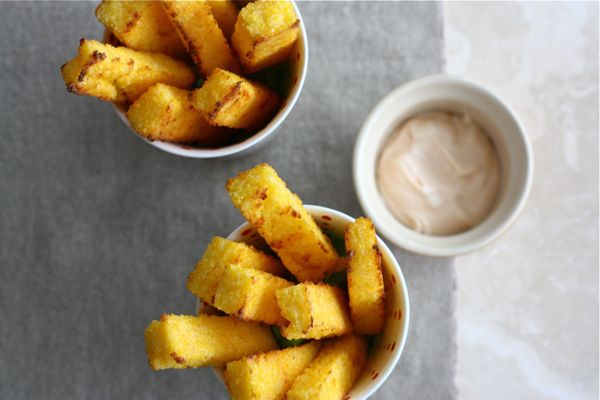 Baked Polenta Fries (with Spicy Lime Mayo) – A Cozy Kitchen