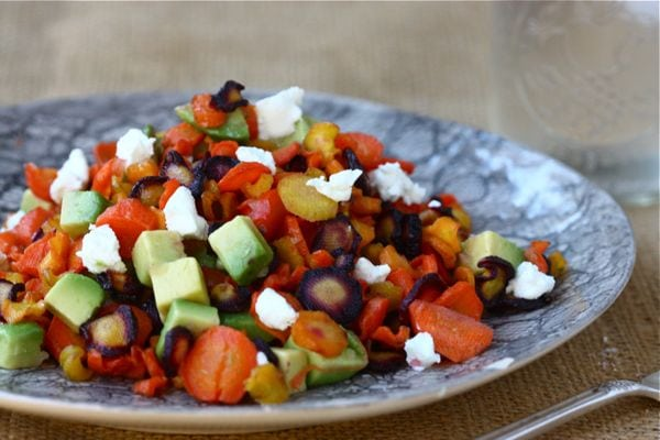 Roasted Rainbow Carrot Salad (with Citrus Cumin Dressing)