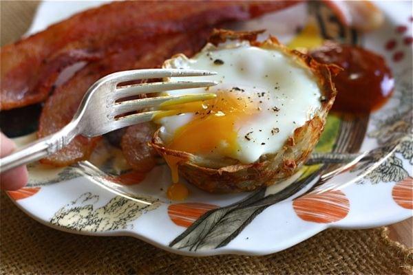 Eggs Florentine In Hash Brown Nests Recipes — Dishmaps
