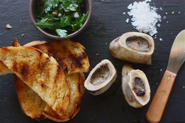 Roasted Bone Marrow w/ Parsley Salad – A Cozy Kitchen