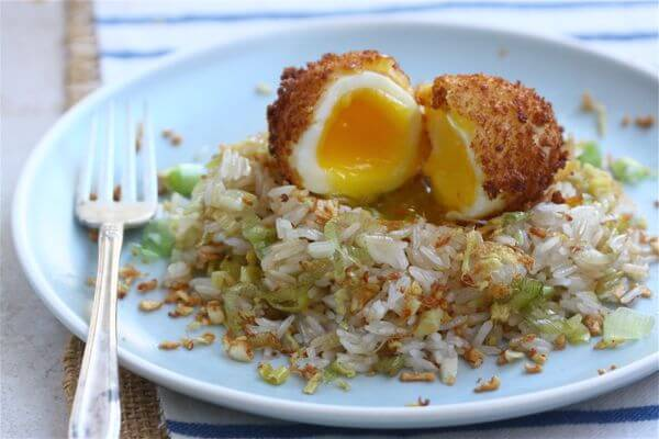 Ginger Fried Rice + 5-Minute Fried Egg // www.acozykitchen.com