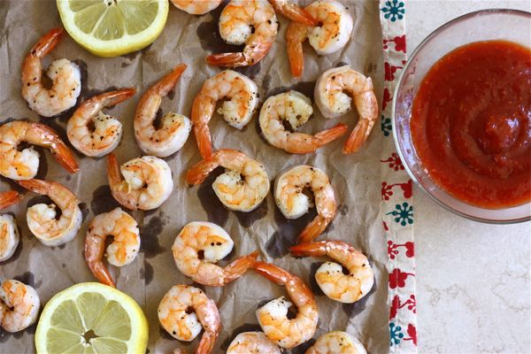 Lemon Roasted Shrimp w/Homemade Cocktail Sauce