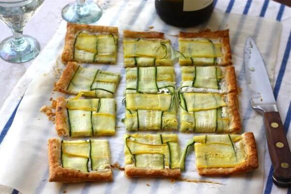 Squash Ribbon Puff Pastry Tart Recipe — Dishmaps