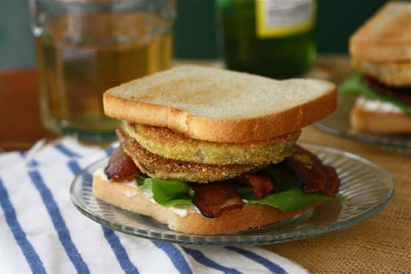 Fried Green Tomato BLT – A Cozy Kitchen