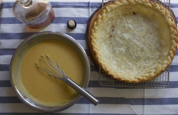 Braided Bourbon Pumpkin Pie // www.acozykitchen.com