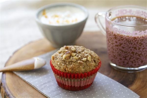 Walnut Banana Bran Muffin