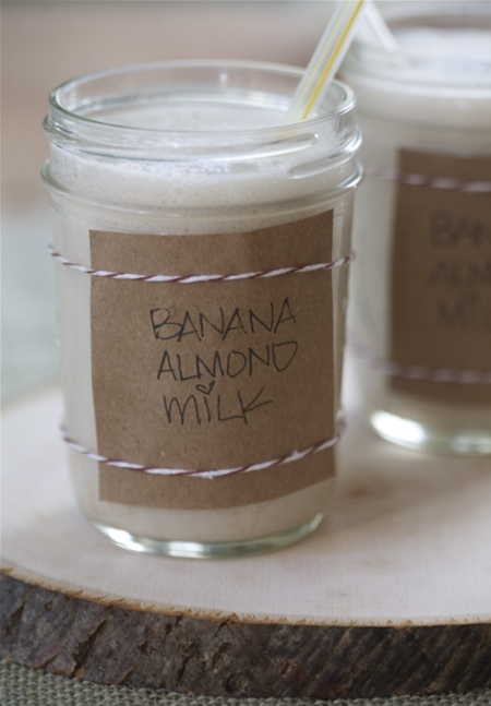 Vegan Spiced Almond Banana Milk