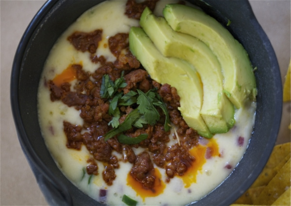 Cheese Dip with Chorizo