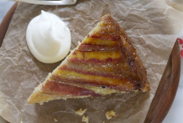 Banana Bourbon Upside Down Cake