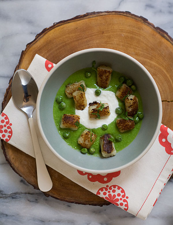 Seared Gnocchi with Pea Pesto