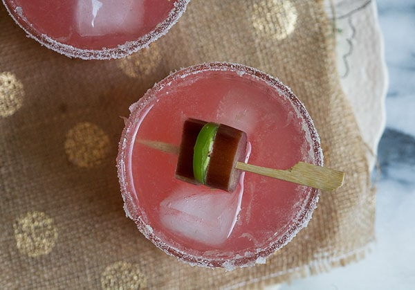 Spicy Rhubarb Margarita