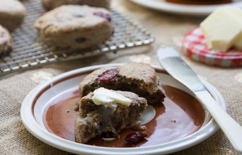 Cherry Chocolate Buckwheat Scones // A Cozy Kitchen