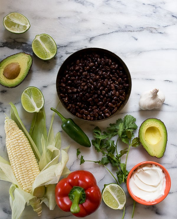 Ingredients for Spicy Black Bean Cakes
