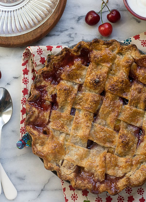 Sweet Cherry Pie with a Rye Pie Crust