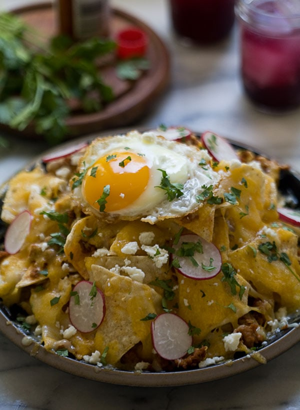 Nachos with an Egg on Top