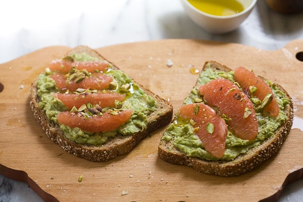 Grapefruit and Avocado Toast
