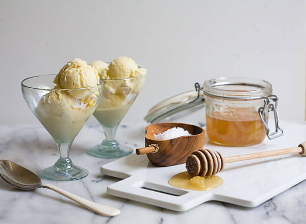 Salty Honey Ice Cream // A Cozy Kitchen