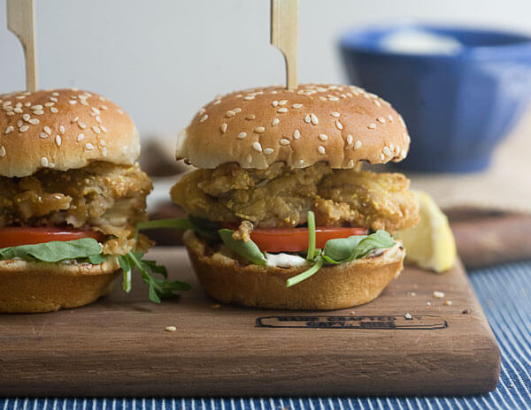 Fried Oyster Sliders // www.acozykitchen.com