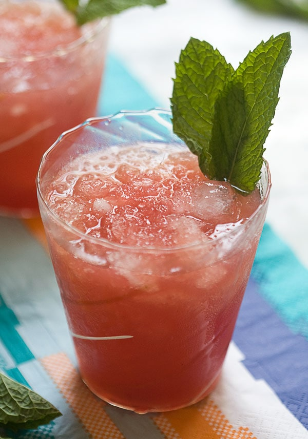 Grilled Watermelon Mint Juleps // www.acozykitchen.com