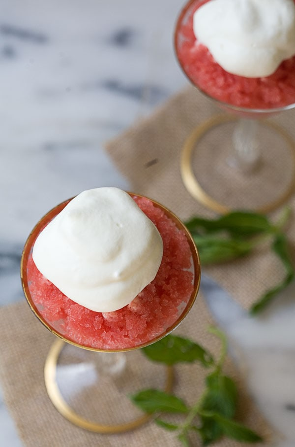 Spicy Watermelon Granita // www.acozykitchen.com