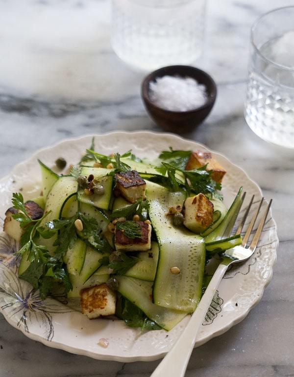 ... corn taco seasoned quinoa salad zucchini ribbon salad zucchini salad