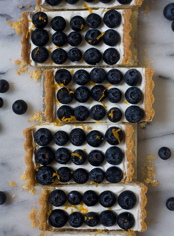 Lebneh and Honey Blueberry Tart