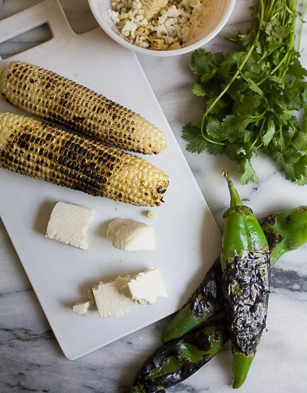 Charred Hatch Chile and Corn Enchiladas // www.acozykitchen.com