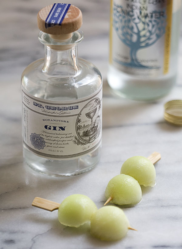 Melon Gin and Tonic // www.acozykitchen.com