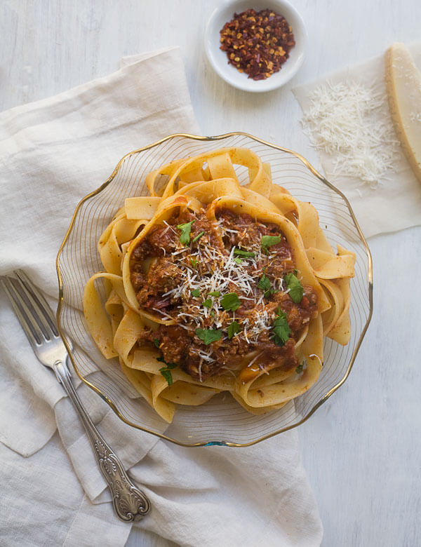 Lamb Bolognese // www.acozykitchen.com