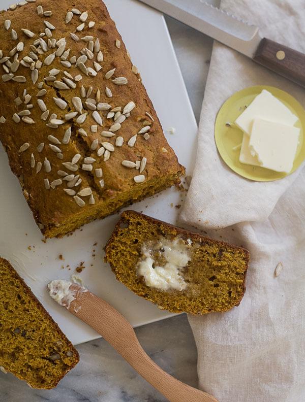 Rye Pumpkin Bread // www.acozykitchen.com
