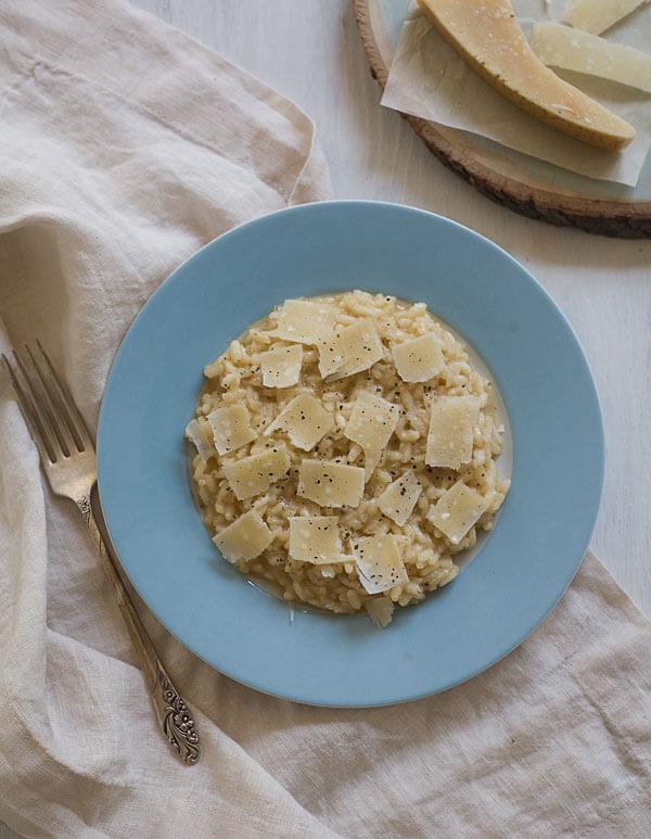 Marcella Hazan's Parmesan Risotto // www.acozykitchen.com
