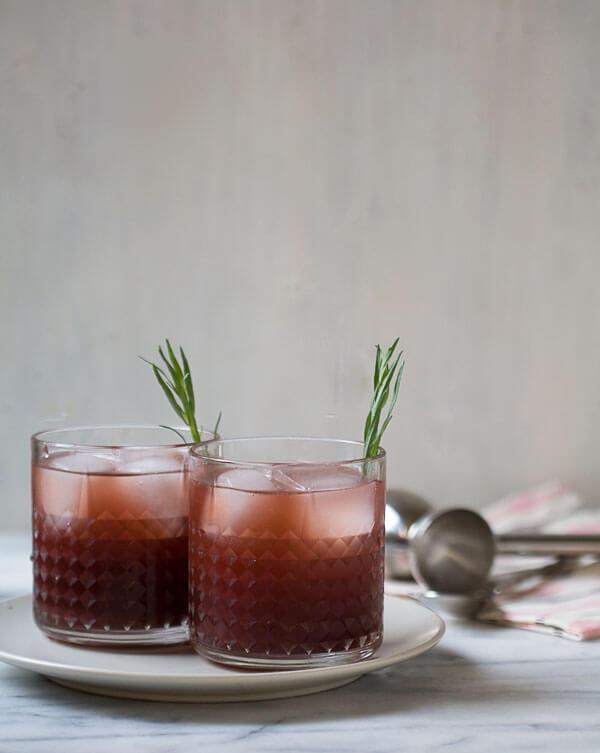 Pomegranate Tarragon Caipiroska // www.acozykitchen.com