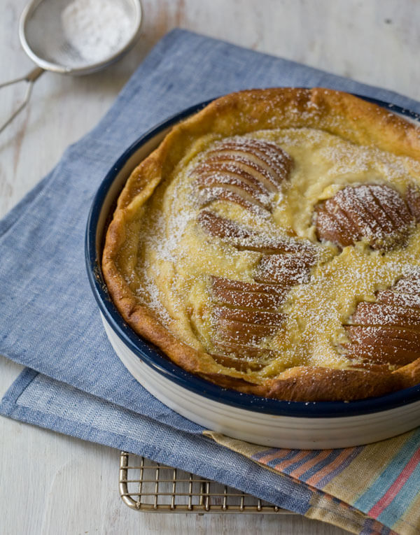 Ginger Pear Clafoutis // www.acozykitchen.com