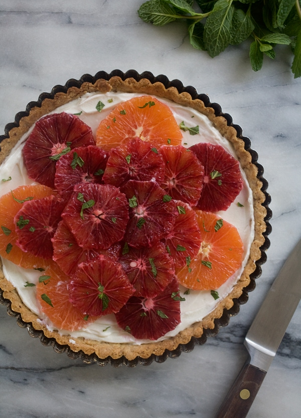 Citrus Honeyed-Yogurt Hazelnut Tart // www.acozykitchen.com