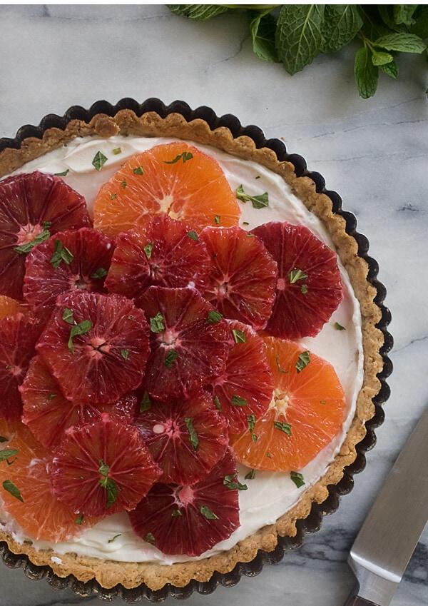 Citrus Yogurt Tart with Hazelnut Crust // www.acozykitchen.com