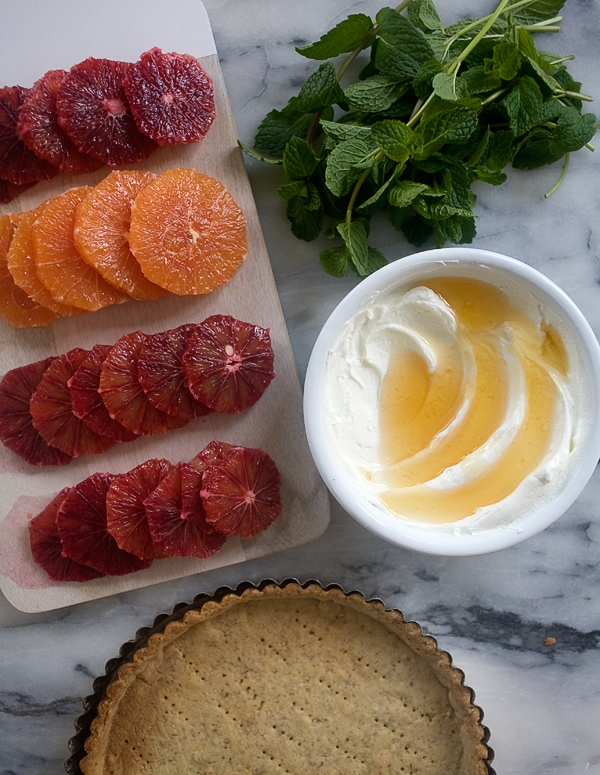 Citrus Yogurt Tart with Hazelnut Crust // www.acozykitchen.com