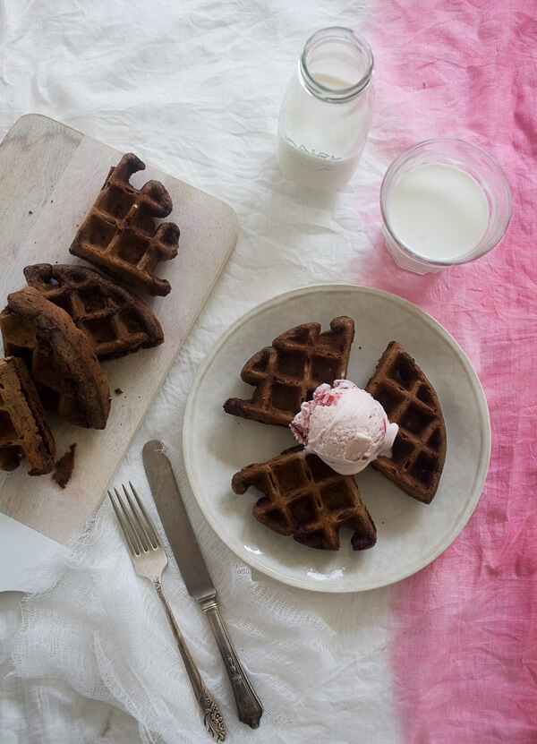 Double Chocolate Dessert Waffles