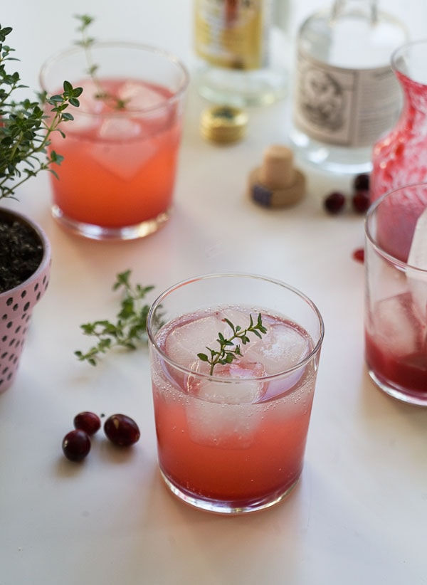 Cranberry Thyme Gin & Tonic | www.acozykitchen.com