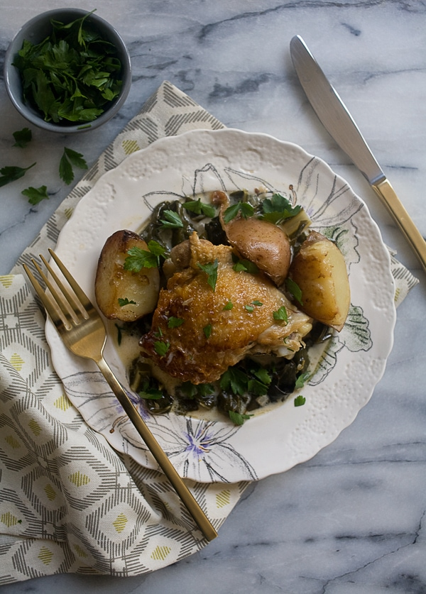 Cream Braised Chicken // www.acozykitchen.com