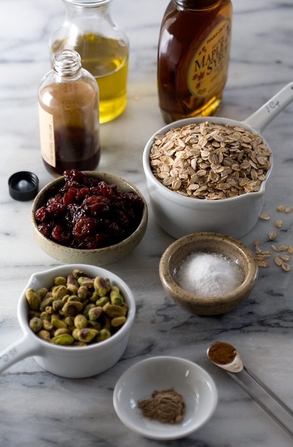 Rye Granola with Sour Cherries and Pistachios // www.acozykitchen.com