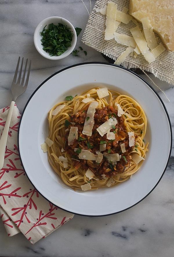 Mushroom Bolognese // www.acozykitchen.com