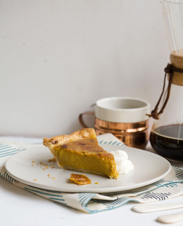 Brûléed Classic Pumpkin Pie // www.acozykitchen.com