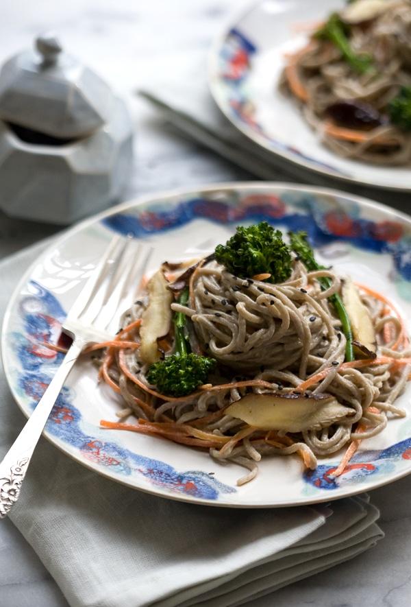 Spicy-Tahini Soba Noodles // www.acozykitchen.com
