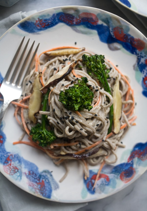 spicy tahini soba noodle salad serving size 3 4 ingredients noodles 6 ...