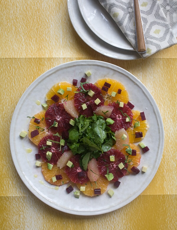 Winter Citrus Watercress Salad with Avocado and Beets // www.acozykitchen.com
